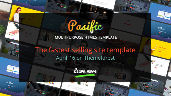 Pasific - Multipurpose HTML5 Template on Themeforest