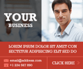 Flat Business ad Design