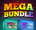 mega bundle banner ad design