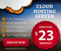 Cloud Banner ad Design