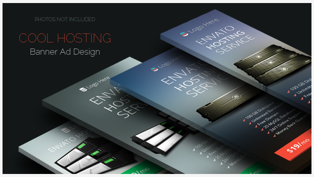 Cool Hosting Banner ad Design