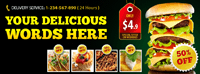 Facebook timeline cover design - Fast Food Store