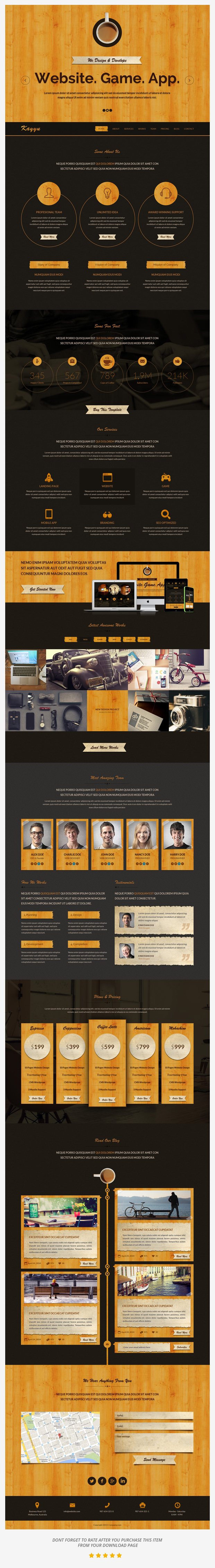 Kayyu One Page PSD Template